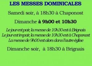 MESSES : L'ALTERNANCE DES SEPTEMBRE