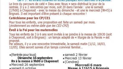 Proposition Caté et planning 2018-2019