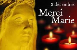8 décembre: venez déposer un lumignon dans votre église