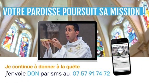La quête pour votre paroisse par SMS !