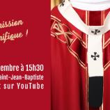 Dimanche 26 Septembre 15h30 : Messe de remise du pallium à la Primatiale Saint-Jean