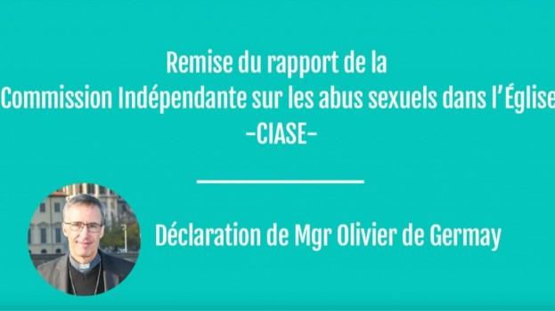 Déclaration de Monseigneur Olivier de Germay après la publication du rapport de la CIASE le 5 octobre